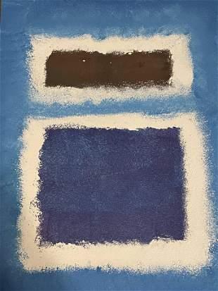 Mark Rothko -American Abstract Mixed Media on Paper