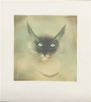 Moti Siamese Cat original lithograph signed