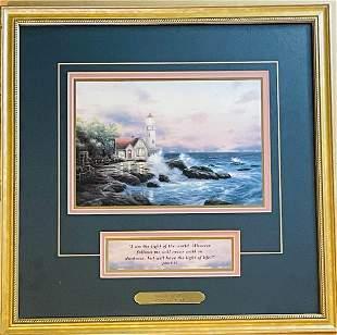 Thomas Kinkade Beacon of Hope Framed Print