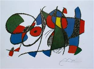 JOAN MIRO Lithograph -Signed Limited Edition