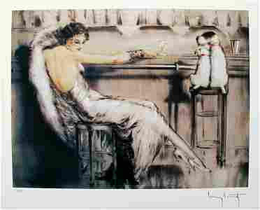LOUIS ICART Martini Print- Signed Limited Edition