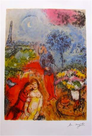 MARC CHAGALL Signed Limited Edition Lithograph