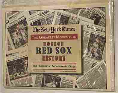 Boston Red Sox History- Historical Newspaper