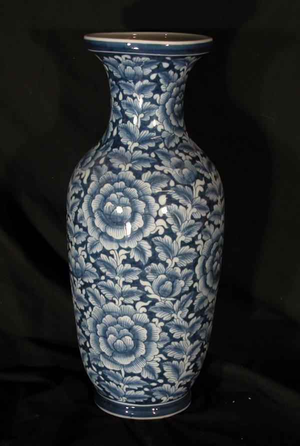 3: Asian Style Blue & White Vases - Assortment of 3