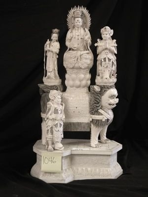 701: Chinese Goddess Ivory Statue/Carving