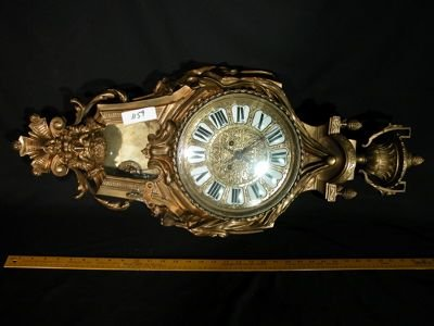 713: French Antique Brass Clock - Lerolle Freres 19thC