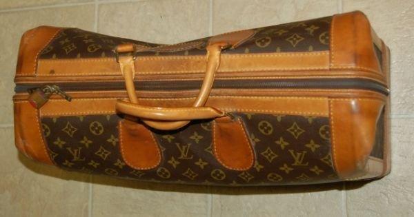 815: Authentic LOUIS VUITTON Vintage Overnight/Shoe Bag - 3
