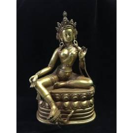 Old Stock,Copper Gilt Buddha Statue