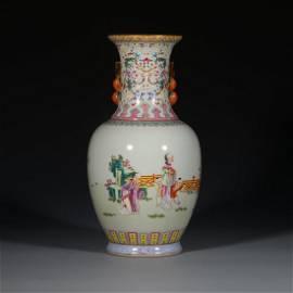 Qinig Dynasty Famille-Rose Vase