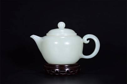 Old stock,hetian jade teapot
