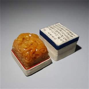 Qing Dynasty shoushan stone seal