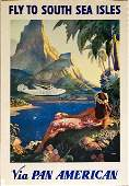 Pan American Airlines South Sea Isles Clipper Ad Poster