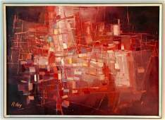 James McCRAY Oil on Canvas Abstract Framed