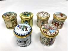 Halcyon Days Enamels English Themed Trinket Boxes Lot