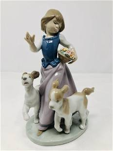 Lladro 5761 Out For a Romp Porcelain Figurine