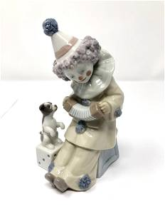Lladro 5279 Pierrot With Concertina Porcelain Figurine