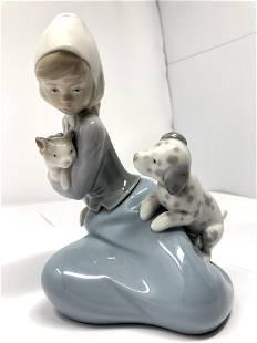 Lladro 5032 Little Friskies Porcelain Figurine