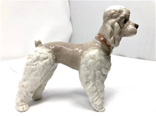 Lladro 1259 Standing Poodle Woolly Dog Porcelain
