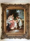 B. LARSEN Impressionist Framed Oil on Canvas