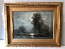 Arthur FEUDEL Signed Framed Watercolor Circa 1896