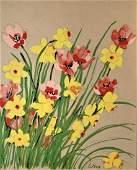 Vera NEUMANN (American, 20th Century) Signed Floral