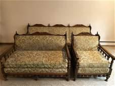 Ross Furniture Vintage Sofa Chair Loveseat Suite