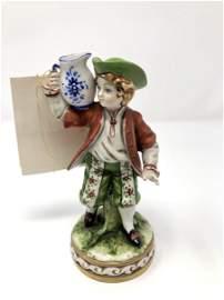Capodimonte Boy With Water Pitcher Jug Figurine