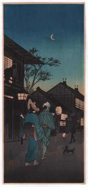 Shotei Takahashi - Street Musicians at Night 1936