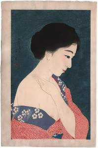 Torri Kotondo Woodblock: Make-Up (early state), 1929