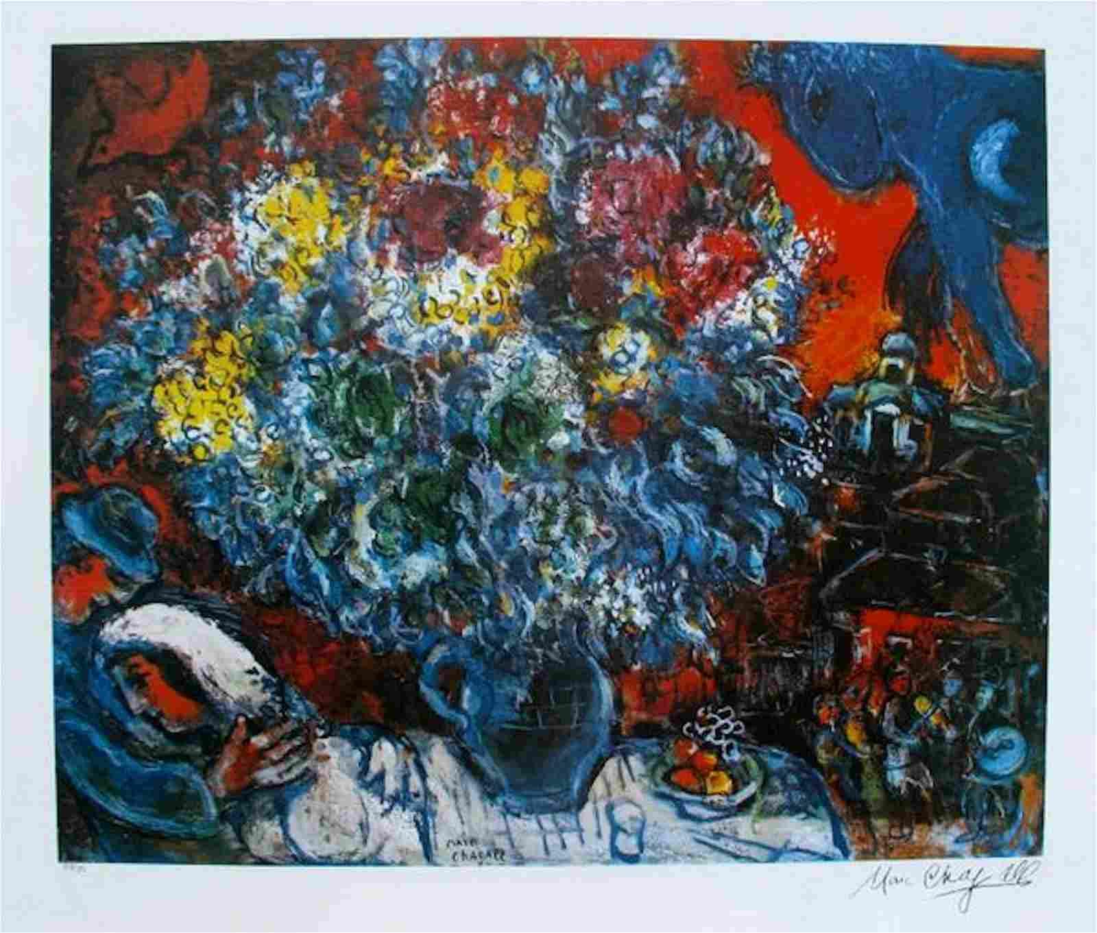 Marc Chagall BOUQUET DE FLEUR ET AMANTS Limited Edition