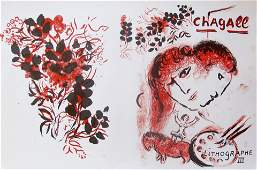 Marc Chagall Lithographe III 1974 Mourlot Lithograph