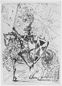 SALVADOR DALI - El Cid, signed etching