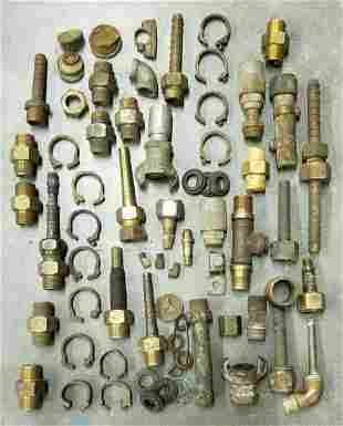 Vintage Brass Diving Hose Fittings - DESCO & Morse