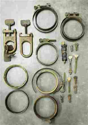 Brass Diving Suit Wrist Clamps & Browne Suit Clamps
