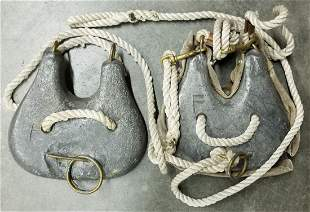 Vintage Divers Lead Chest Weights Front & Back