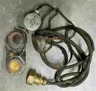 Antique Divers Helmet Speaker & Communications Line