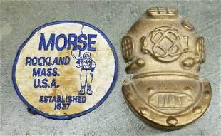 Brass Mark V Helmet Plaque & Morse Diving Patch