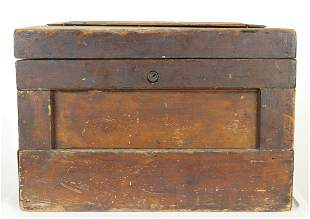Small Antique Wood Divers Tool Box