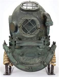 Rare A.J. Morse & Son 5 Bolt Diving Helmet Circa 1906