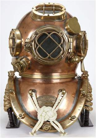 US Navy Mark V Diving Helmet Morse 1942 w/ History