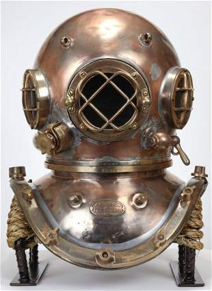 1930s AJ Morse Continental Antique Diving Helmet