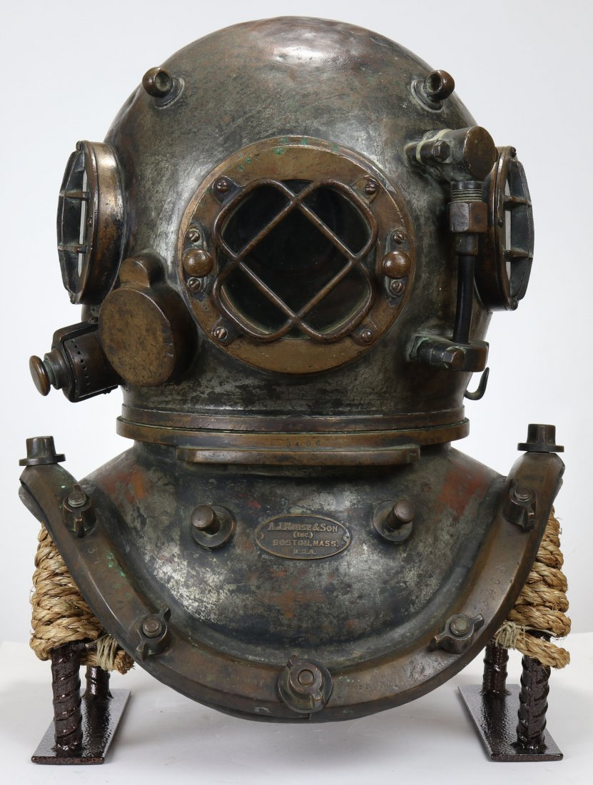 1930s AJ Morse Antique Diving Helmet Amazing Patina