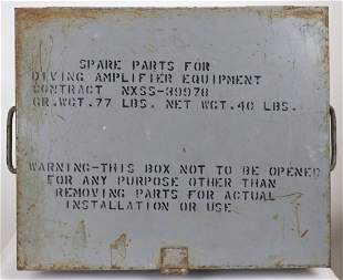 WW2 Spare Parts Box Diving Amplifier Comms Equipment