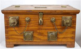 Andrew J Morse US Navy Telephone & Battery Wood Case