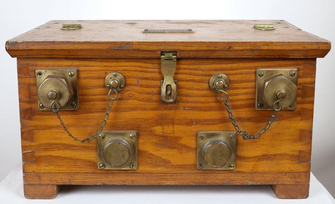 Andrew J Morse US Navy Telephone & Battery Wood Case