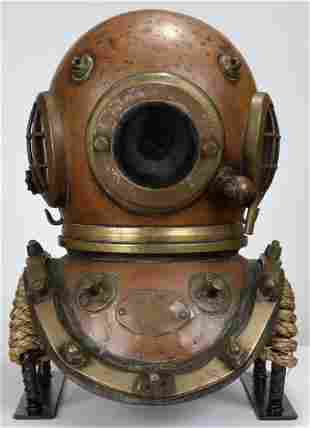 Siebe Gorman 12 Bolt 3 Light English Diving Helmet