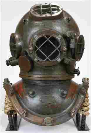 1919 AJ Morse Antique Diving Helmet - Amazing Patina