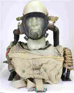 Rare DESCO Buccaneer B Lung w/ Mask WWII OSS