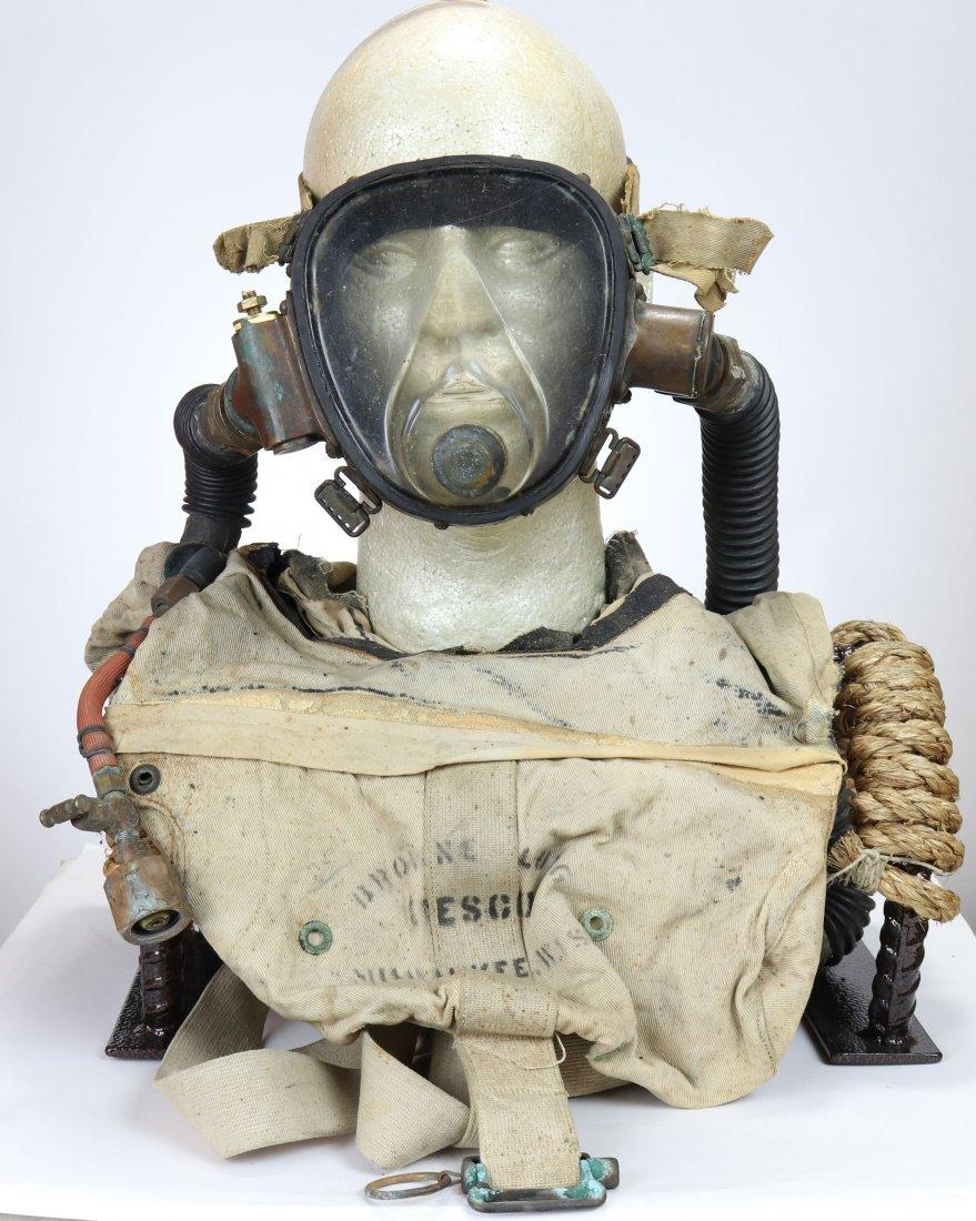 Rare DESCO Buccaneer B Lung w/ Mask WWII OSS