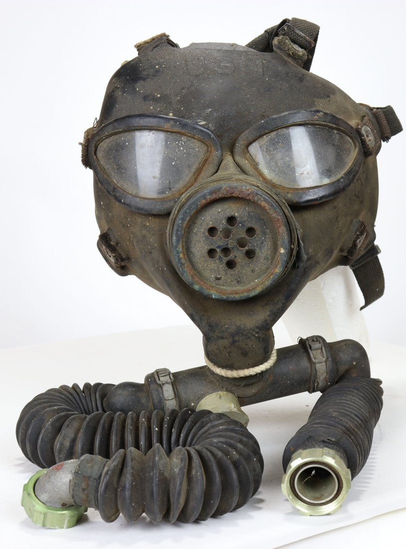 US Navy Bug Eye Diving Mask Type At Pearl Harbor - WWII